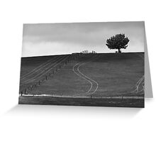 Lines in Ash Greeting Card