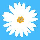 white daisy turquoise by hennydesigns