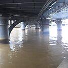 Boat under bridge by AmandaWitt