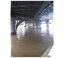 Boat under bridge Poster