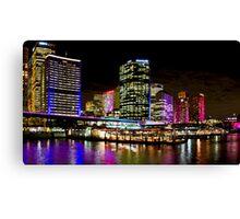 Vivid Circular Quay - Sydney - Australia Canvas Print