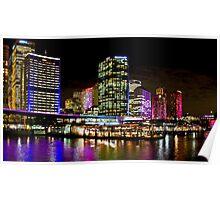 Vivid Circular Quay - Sydney - Australia Poster