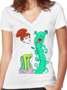 Me and My Monster Women's Fitted V-Neck T-Shirt