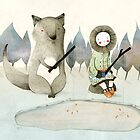 The Little Inuit Girl And The Wolf by Judith Loske