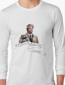 Somebody help Castiel Long Sleeve T-Shirt