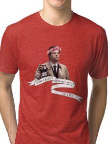 Somebody help Castiel Tri-blend T-Shirt
