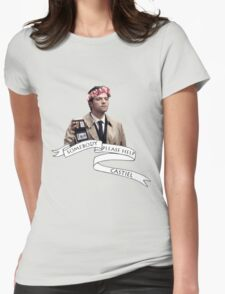 Somebody help Castiel Womens Fitted T-Shirt