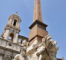 Fontana dei Quattro Fiumi, Rome, Italy by buttonpresser