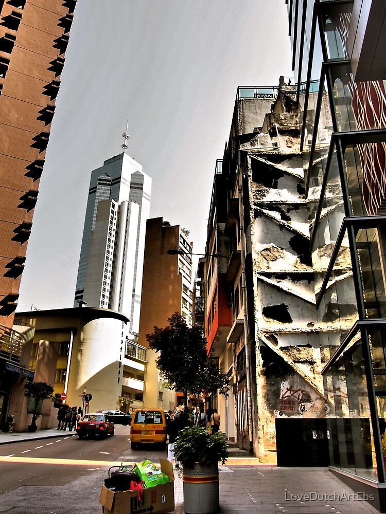 plain beautiful architecture of Hong Kong old meets new by LoveDutchArtEbs