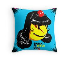Mistress Pac Man Throw Pillow