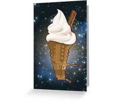 Dalek Ice-Cream a Treat in Space and Time Greeting Card