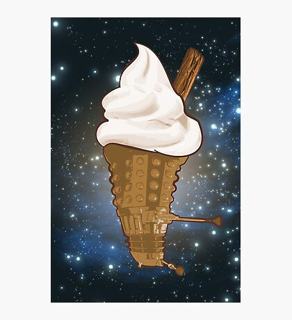 Dalek Ice-Cream a Treat in Space and Time Photographic Print