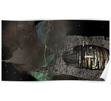 Asteroid City Mining at Big Dipper Nebulae Poster