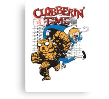 Clobberin' Time Canvas Print