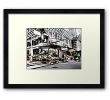 shop under construction check out the bamboo look in Hong Kong Framed Print