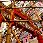 bamboo building construction a typical view of Hong Kong by LoveDutchArtEbs