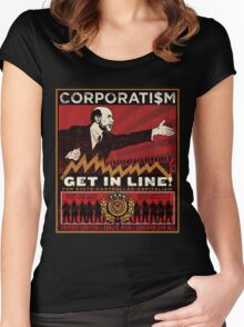 Corporatism Women's Fitted Scoop T-Shirt