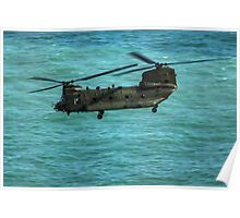 The Chinook Flying into Eastbourne Airshow Poster