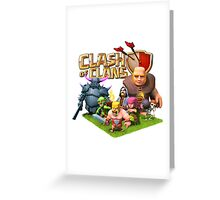All Characters COC Greeting Card