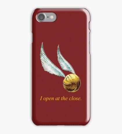 snitch- i open at the close iPhone Case/Skin