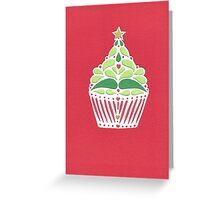 Christmas CupTree - Red Greeting Card