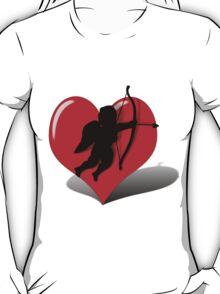 Cupid in a Balancing Heart  T-Shirt