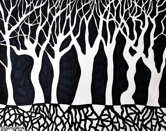 'ABSTRACT FOREST #2'  by Jerry Kirk
