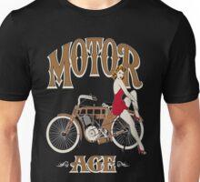 Motor Age Motorcycle Pinup Unisex T-Shirt