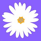 white daisy purple by hennydesigns