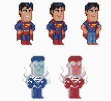 Superman Pixel Figure Sticker Set by Pixelfigures
