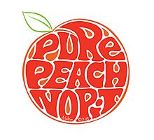 Pure peach fruit typography Photographic Print
