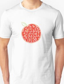 Pure Peach Fruit Artwork Small Unisex T-Shirt