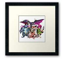 COC Charaters Framed Print