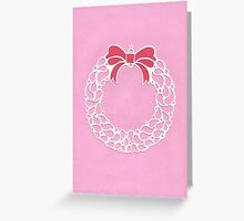 Christmas Wreath - Pink Greeting Card