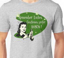Gentlemen Prefer Bongs! Unisex T-Shirt