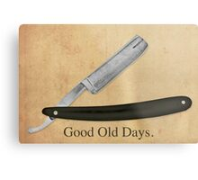 Vintage Razor.Good Old Days. Metal Print