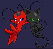 Miraculous Ladybug - Tikki & Plagg Photographic Print