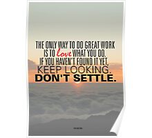 Don't Settle Poster