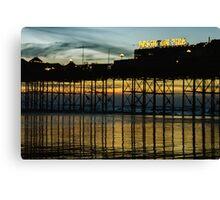 Brighton Pier at sunset Canvas Print