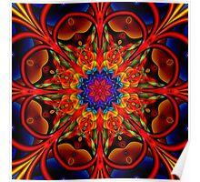 The blooming Kaleidoscope, fractal artwork Poster