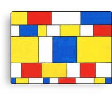 BLUE, RED, YELLOW AND WHITE COLORED AREAS Canvas Print