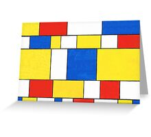 BLUE, RED, YELLOW AND WHITE COLORED AREAS Greeting Card