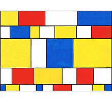 BLUE, RED, YELLOW AND WHITE COLORED AREAS Photographic Print