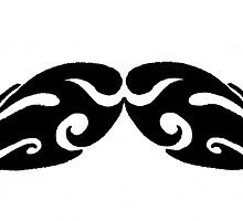 Tribal Mustache Design by MyBestDesigns