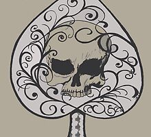 Ace of Spades Skull by MyBestDesigns