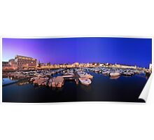 Faro Marina at Night Panorama Poster