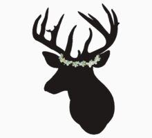 Hannibal Stag in a Flower Crown. why not? by h0rrid
