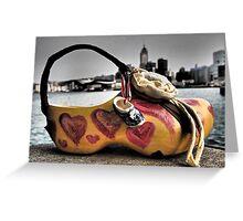 a shoe art bag in Hong Kong Greeting Card