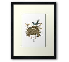 Bird Hair Day Framed Print
