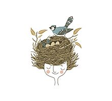 Bird Hair Day Photographic Print